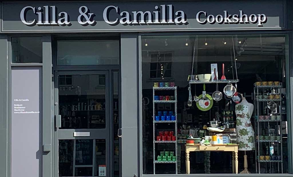 Cilla and Camilla Cookshop Bridport